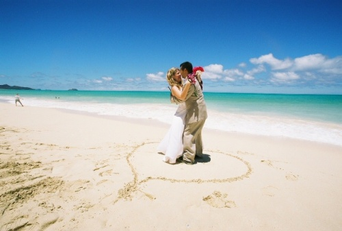 Hawaii seaside wedding