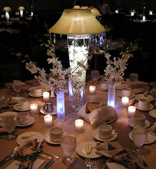 lamp wedding centerpiece