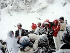 wedding on the snow