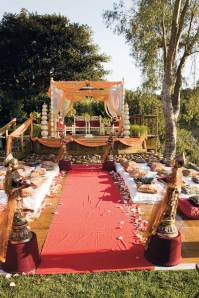American Wedding Altar in Indian Style