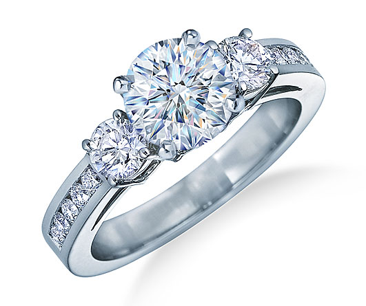 big stone diamond engagement ring