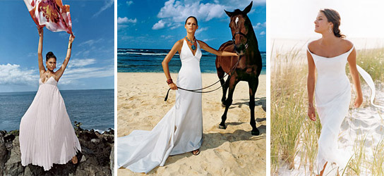 Beach wedding gowns are far less formal and generally do not have a
