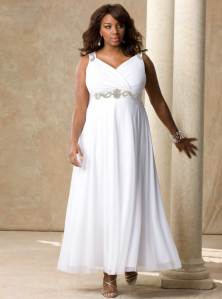 Lovely black BBW in plus size wedding gown