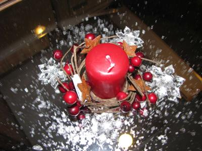 Lovely Christmas wedding candle