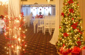 Christmas wedding decoration