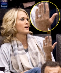 Carrie underwood engagement ring pics